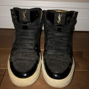 Saint Laurent Black Sparkle Sneakers